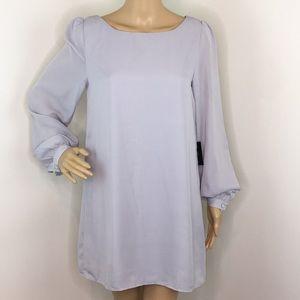 Lulu's Silver Shift Dress